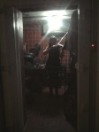 Pensacola, viola player warming up in the icebox.